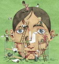 Arbejdsglaede - constructing a man
