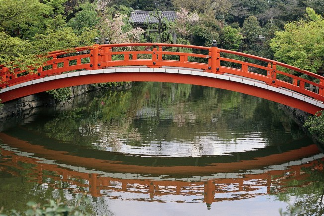 Bridge at Shinsen-en Sacred Spring Garden