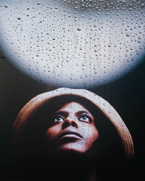 person with rain