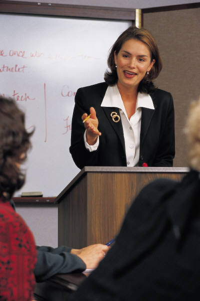 woman presenter