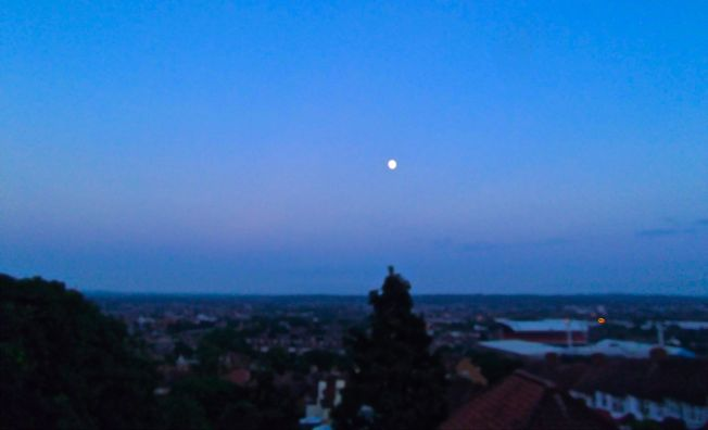 Moon over South London Photo: Mark Trezona