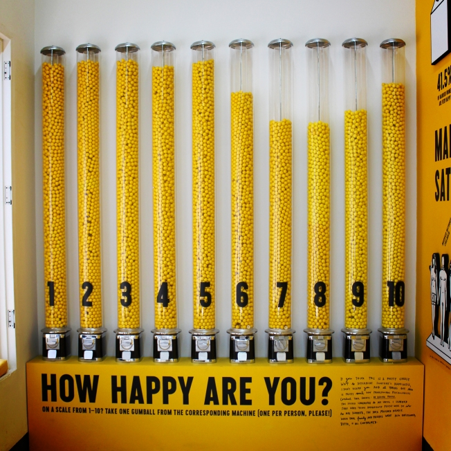 http://susanschneiderdesign.wordpress.com/2012/08/17/the-happy-show-by-stefan-sagmeister/