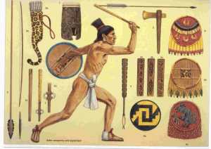 aztec warrior weapons