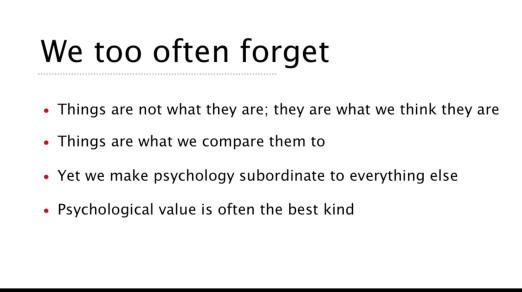 screenshot slide from Rory Sutherland's TEDTalk 'Perspective is Everything'