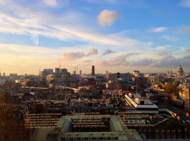 photo by Sue Ridge: the view from Guy's Hospital cancer centre