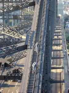 Crossing Sydney Harbour Bridge