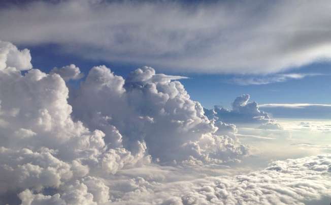 'Sometimes its good to be up in the clouds' photo by Sue Ridge