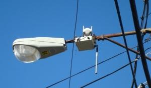 streetlight - sensor node attached to light pole