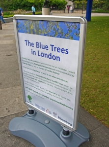 The Blue Trees in London - photo by Sue Ridge