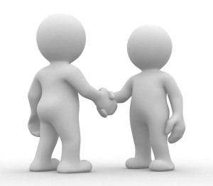 agreement shaking hands