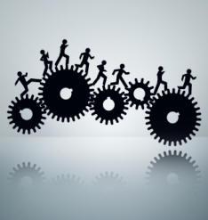 rat racing across the wheels of work