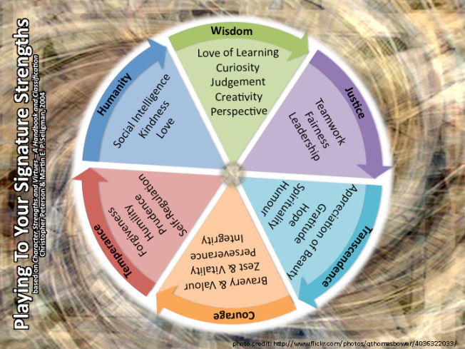 Character Strengths & Virtues (Mark Trezona 2014)