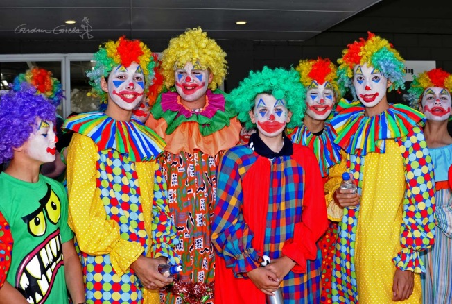 real clowns ready for action