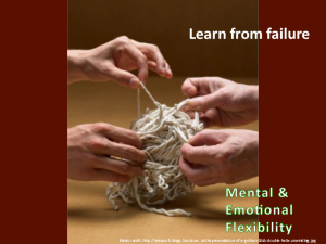 Learning from Failure to Increase mental & emotional flexibility