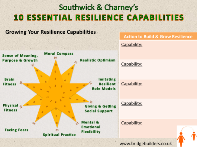 Southwick & Charney's 10 Essential Resilience Capabilities (BridgeBuilders STG Ltd. 2014)