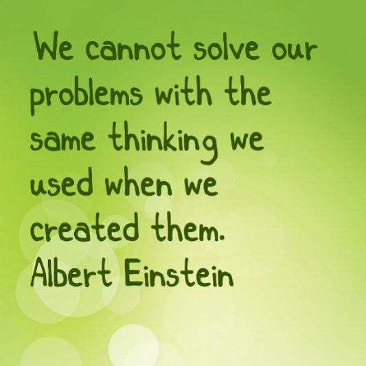 Einstein on creative thinking